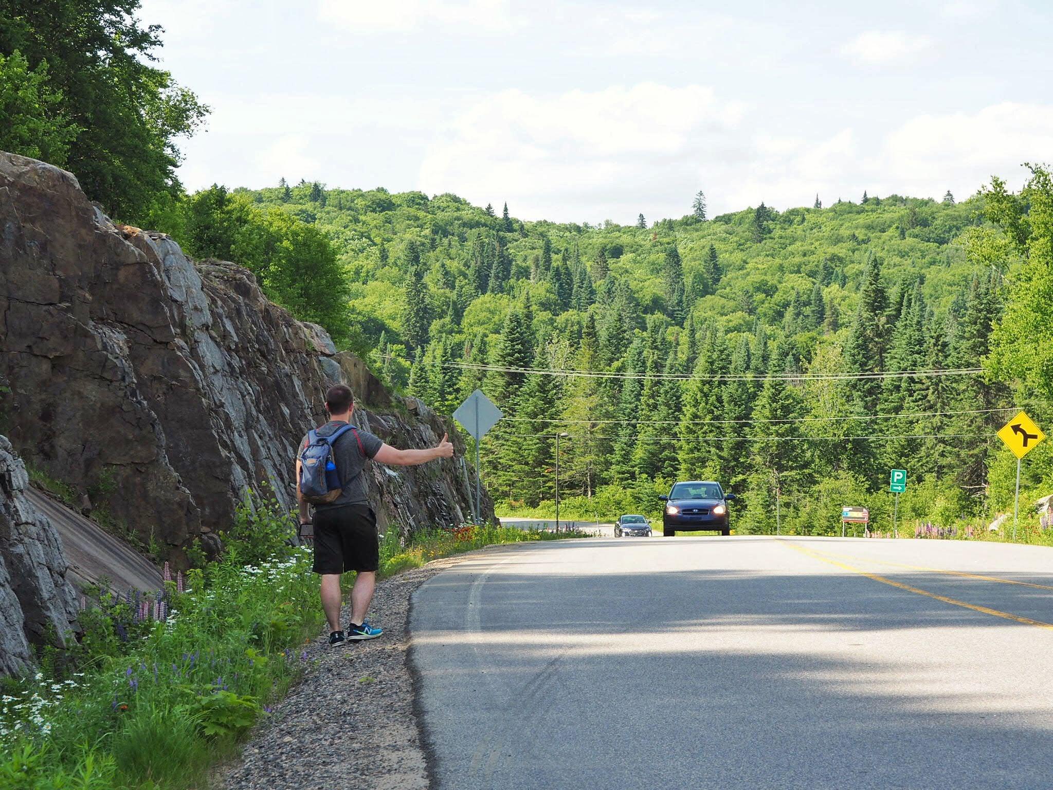 Randonner au Québec sans voiture